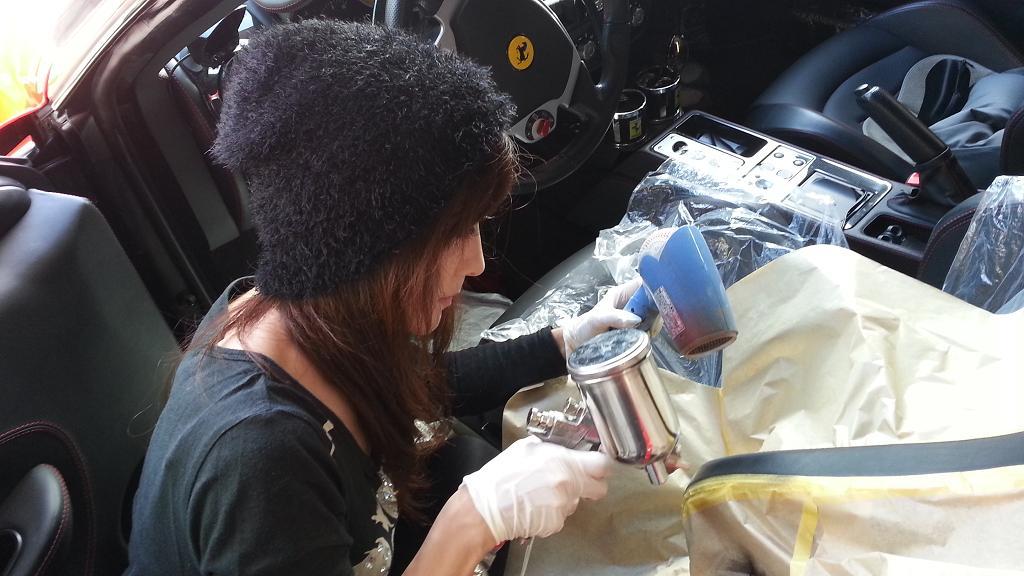 フェラーリ430施工中