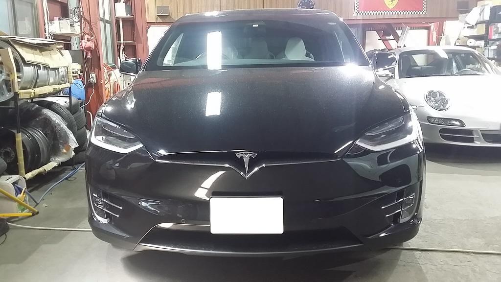 テスラ モデルX Model X ホイール マッドブラック 艶消し ガリ傷 修理 リペア 修正