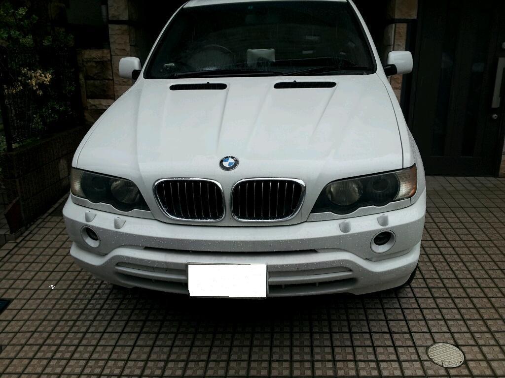 BMW X5 ヘッドライト曇り磨き