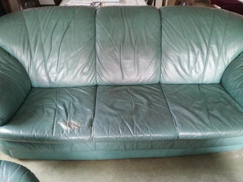 リビング 革のソファ 擦れ 補修