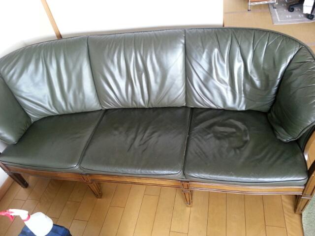 リビング ソファー 革の劣化・擦れ 補修・補色