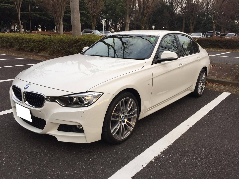 BMW F30 Active Hybrid 3 ダイヤカット ホイール ポリッシュ ガリ傷 リペア 修理