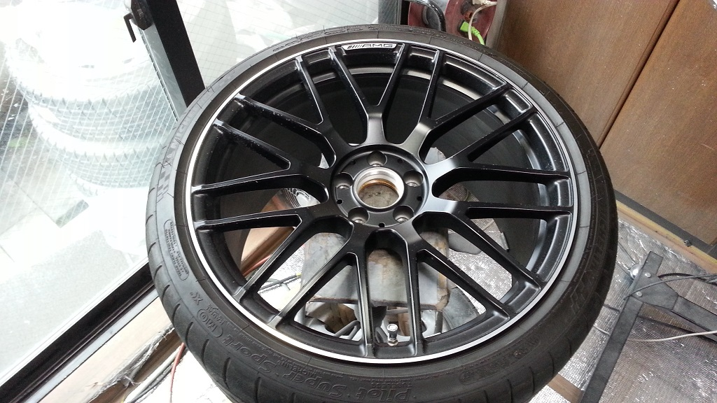 AMG GT S ホイール全体ビフォー