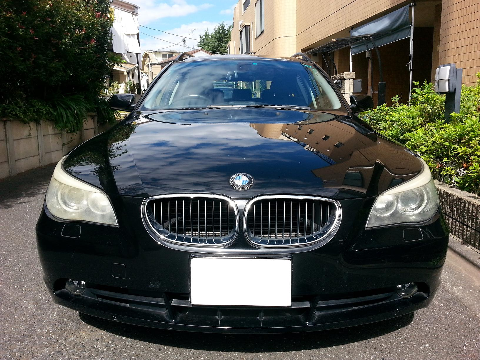 BMW 525i ツーリング E61 E60 ヘッドライト 曇り・黄ばみ・傷 磨き